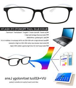 Men Ultra Light Sport Blue Light Blocking Reading Glasses Co