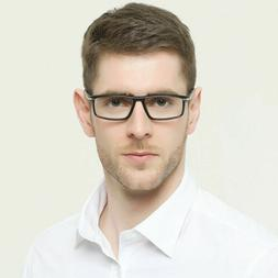 Mens Reading Glasses Square Business Readers Fashion Classic