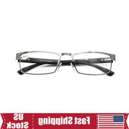 Mens Rectangular Reading Glasses Metal Business Readers 1.0