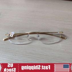 Mens Rimless Bifocal Reading Glasses + 1.0 1.5 2.0 2.5 3.0 3