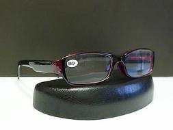 Mens Womens Spring Temple Designer Reading Glasses With Plas