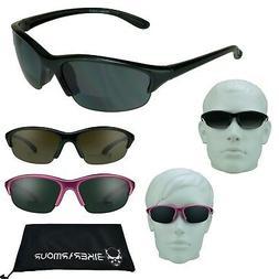 Ladies Bifocals Sunglass Readers Z87 Golf Cycling Running Sm