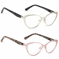 New 4 Colors Women Retro Vintage Cat Eye Reading Glasses Met