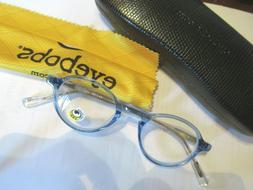 new readers eye bobs blue clear board