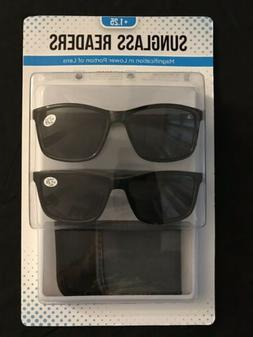 NEW! ICON Eyewear Sunglass Readers +1.25 2 pack with cases B
