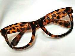 NEW Betsey Johnson Thick Frame Reading Glasses Brown Animal