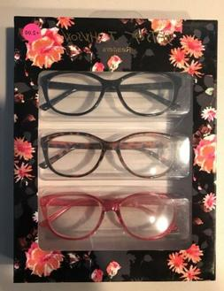nib 3 pair color readers reading glasses