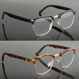 No Line Clear Lens Reading Glasses Metal Half Rimless New Fu