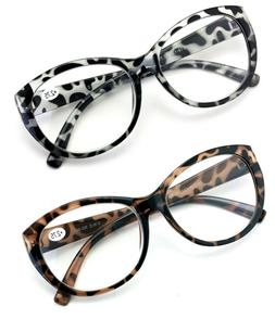 Oversize Women Reading glasses - Magnified Readers Cateye Vi