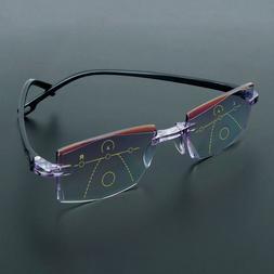 Progressive Multifocal Presbyopia Eyeglasses Reading Anti Fa