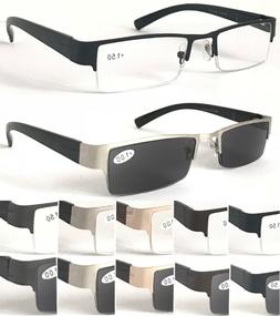 R414-A Men' Semi-Rimless Reading Or 100%UV400 Protection Sun