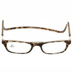 reader eyeglasses tortoise full rim magnetic reading