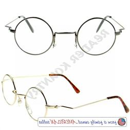 READERS +125~350 Lightweight Round Metal Frame UV CLEANED Re