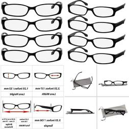 Reading Glasses 2.5 Best 4 Pack Black Readers For Men And Wo