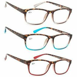 Reading Glasses 3 Pair Great Value Stylish Readers Fashion M