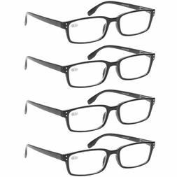 Reading Glasses 4-Pack Spring Hinge Comfort Readers