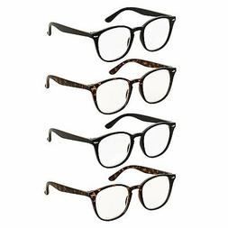 Reading Glasses 4 Pairs Comfort Fashion Matte Readers for Me