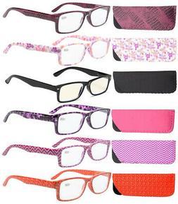 Eyekepper Reading Glasses 6 pack Quality Spring Hinges Patte