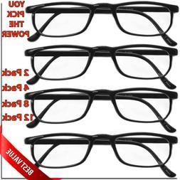 READING GLASSES LENS 2,4,8,12 PACK LOT CLASSIC READER UNISEX