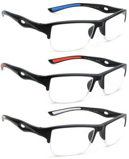 Reading Glasses Men Classic Half Rimmed Sporty Look Reader Q