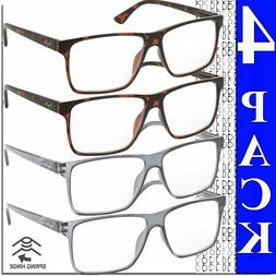 READING GLASSES MENS SQUARE FRAME READERS HIGH QUALITY BRAND