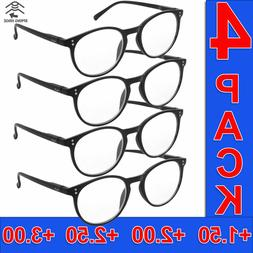 READING GLASSES MENS SQUARE FRAME READERS HIGH QUALITY 4 PAI