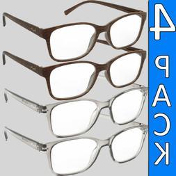 reading glasses mens womens 4 pair unisex