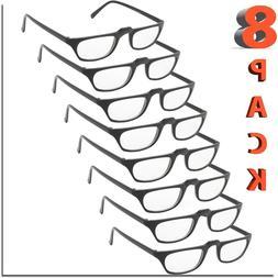 READING GLASSES UNISEX MEN WOMEN STYLE FRAME LOT READER 8 PA