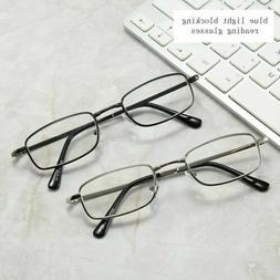 Rectangle Reading Glasses Filter Blue Light Spring Hinges Re