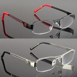 Khan Rectangular Half Rimless Metal Reader Reading Glasses M