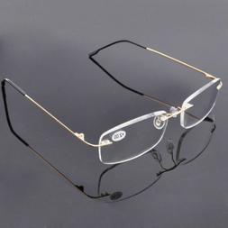 Rimless Reading Glasses Titanium Alloy Readers Light Weight