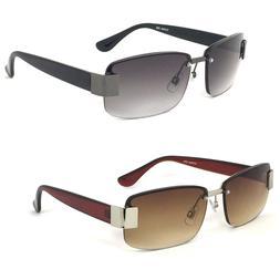 Semi Rimless Mens Sun Readers Reading Glasses Sunglasses UV