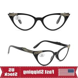 Sexy Cat Eye Reading Glasses Spring Hinge Readers Womens Pla