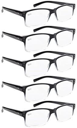 Eyekepper 5-pack Spring Hinges Vintage Reading Glasses Men R