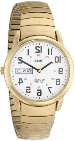 Timex Men's T20471 Easy Reader Gold-Tone Stainless Steel Exp