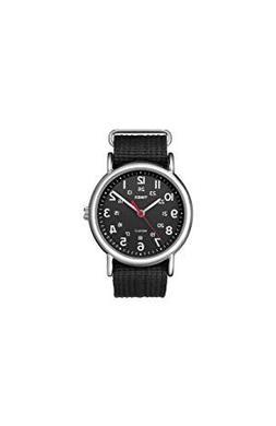 Timex Unisex T2N647 Weekender Black Nylon Slip-Thru Strap Wa