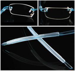 TR90 Flexible Reading Glasses Mens Women Rimless Reader +0.5