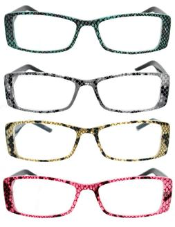 Trendy Animal Print Temple Eyewear Readers Women's Reading G
