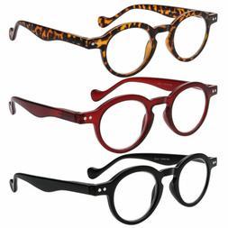 Vintage Round Reading Glasses Spring Hinges Readers Women Me