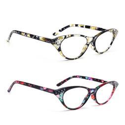 Women Cat Eye Reading Glasses Fashion Readers Sexy Retro 1.0