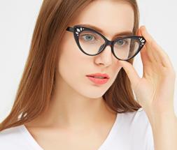 Women Cat Eye Reader Glasses Dimond Elegant Reading Glasses