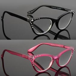 Women Classy Elegant Retro Cat Eye Reading Eye Glasses Reade