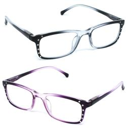Women Fashion Reading Glasses Stylish Two Tone Reader with S