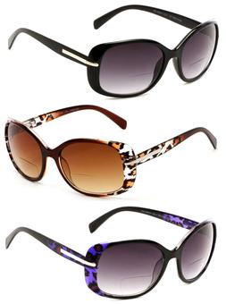 Women Fashion Square Bifocal Reading Sunglasses Sun Readers