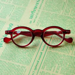 Women Men Small Round Reading Glasses Spring Hinges Readers