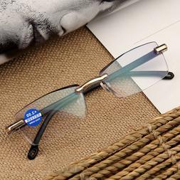 Women Round Rimless Reader Reading Glasses