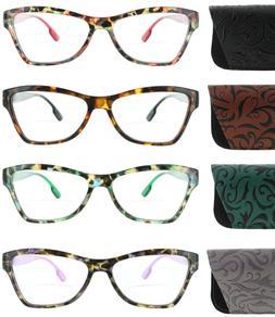 Womens Bifocal Reading Glasses Spring Hinge Tortoise Fashion