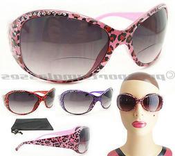 Womens Bifocal Sunglasses Sun Readers Animal Print Cheetah 1