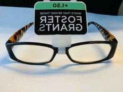 Foster Grant Womens Kaitlyn Reading Glasses Black Fashion Re