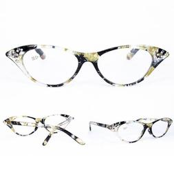 Womens Sexy Cat Eye Reading Glasses Spring Hinge Readers 1.0